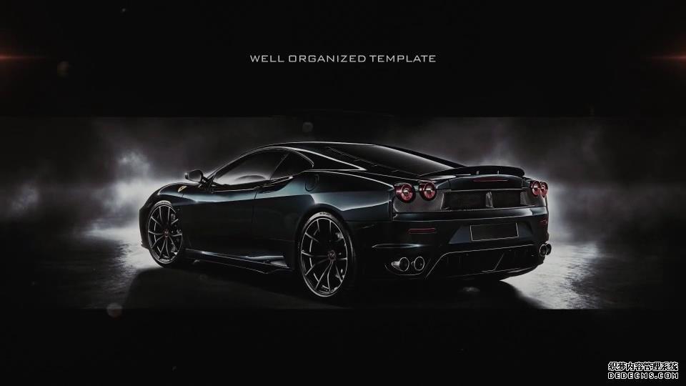 AE模板 豪华汽车展示内部结构介绍镜头流畅切换幻灯模板 AE素材