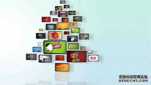 AE模板 三维卡通动画圣诞树旋转展示图像动画模板 AE素材