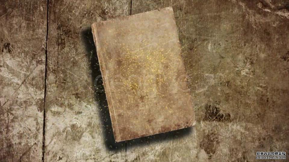 AE模板 复古怀旧金色书本翻页展现图像视频模板 AE素材