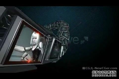 AE模板 炫酷烟雾机械臂伸缩展示图像动画模板 AE素材