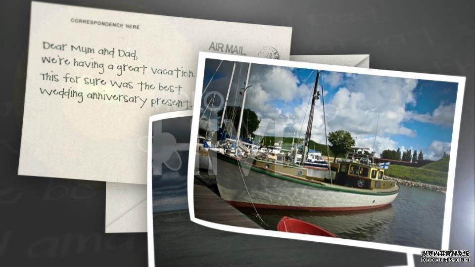 AE模板 相机镜头拍摄邮件明信片展现图像动画模板 AE素材