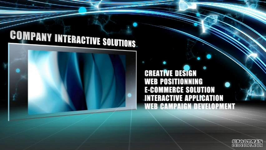 AE模板 影戏科幻技能镜头蓝色流光殊效展现视频模板 AE素材