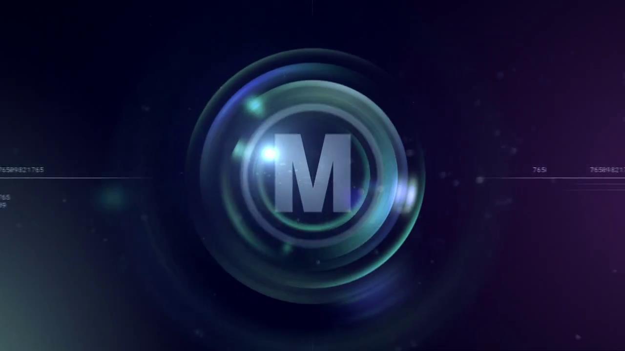 AE模板 暗色光泽虚拟镜头圆圈放大呈现标志LOGO模板 AE素材