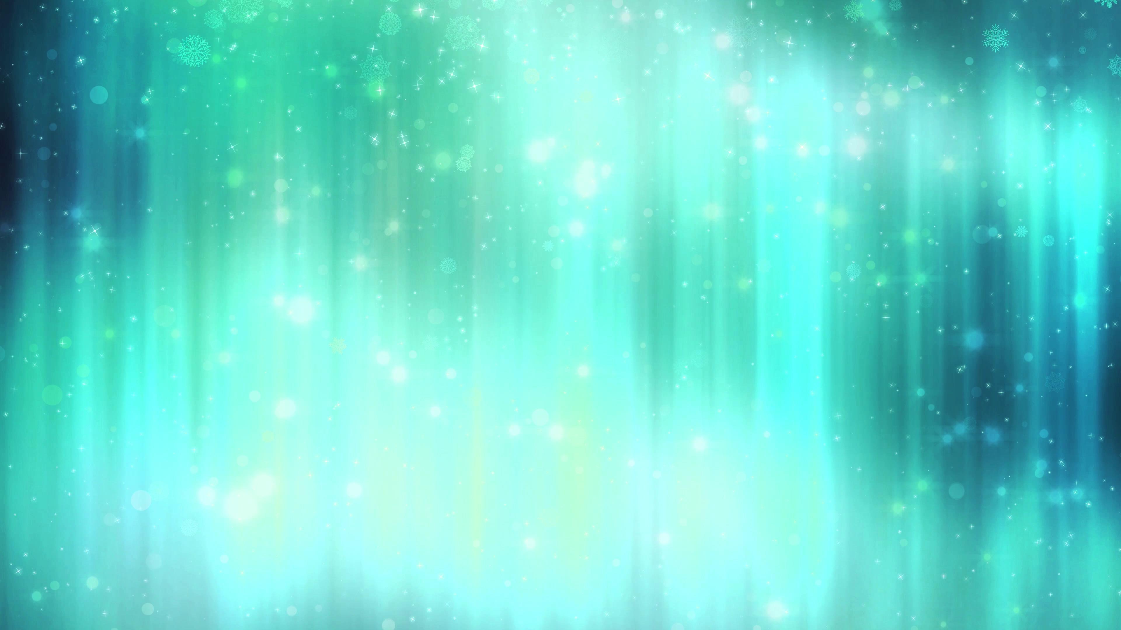 抽象虚幻绿色光点闪烁洒落视频素材