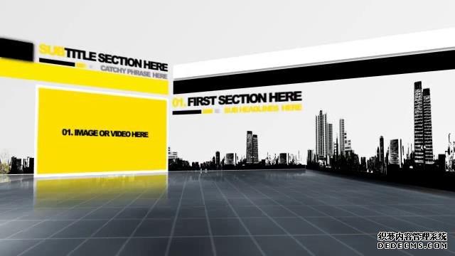 AE模板 三维立体简约时尚年度总结视频展示模板 AE素材