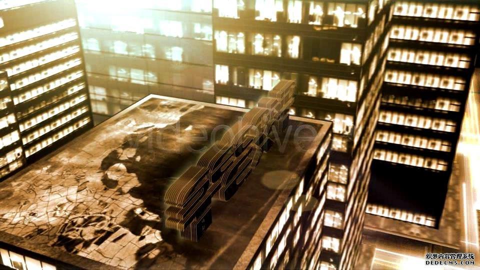 AE模板 震撼大厦暗黑结果LED大楼墙面楼顶金属字殊效模板 AE素材