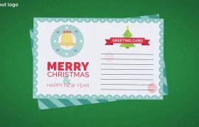 AE模板 可爱的圣诞节贺卡祝福文字MG动画模板 AE素材