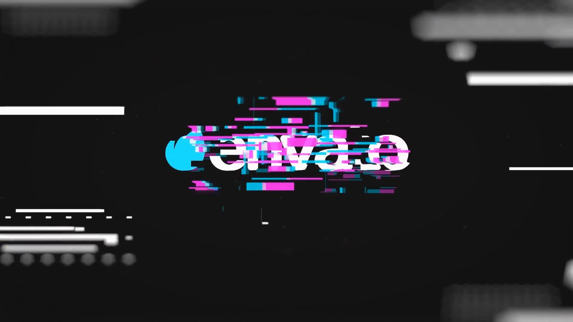 AE模板 现代炫酷科技色彩故障效果动画LOGO模板 AE素材