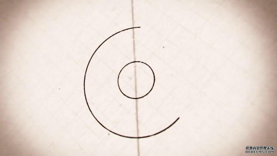 ae模板 手绘图纸线条logo文件标志转场展示模板 ae素材
