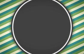 复古地方圆圈循环线条配景视频素材