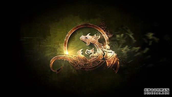 AE模板 超炫大型史诗级电影游戏Logo蜕变演绎动画模板 AE素材