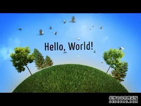 AE模板 簡約可愛地球旋轉滾動展示旅游主題風景素材模板 AE素材
