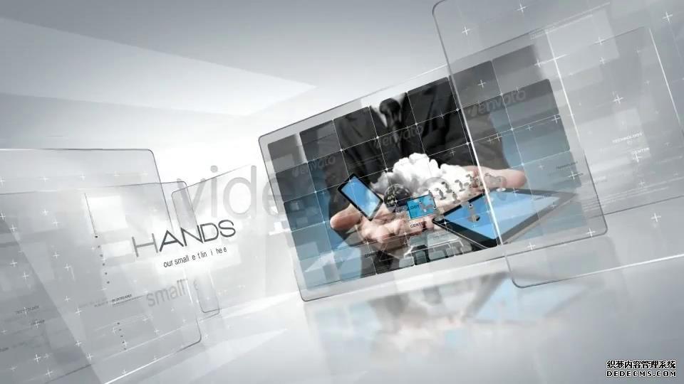 AE模板 科技创造透明玻璃展示未来画面特效模板 AE素材