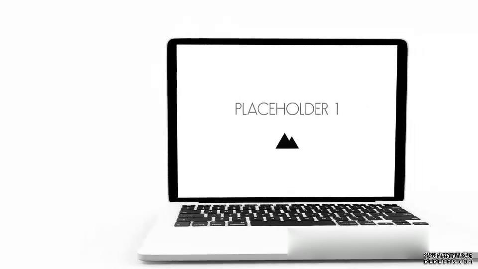 AE模板 商业简洁优雅三维立体笔记本电脑展示产品特效模板 AE素材