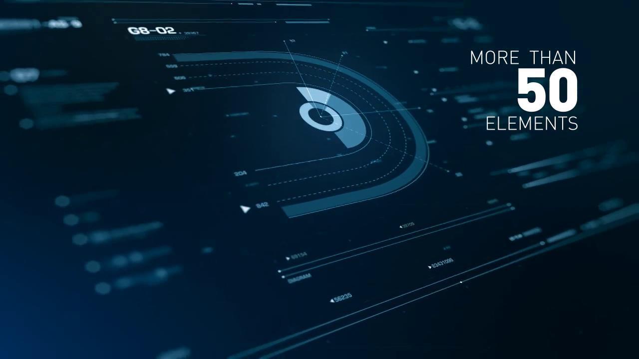 AE模板 科幻电影开场电脑分板数据特效模板 AE素材
