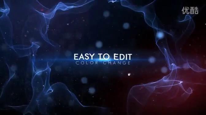 AE模板 創意唯美三維粒子光線線條運動特效模板 AE素材