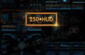 250种4K分辨率高科技科幻UI